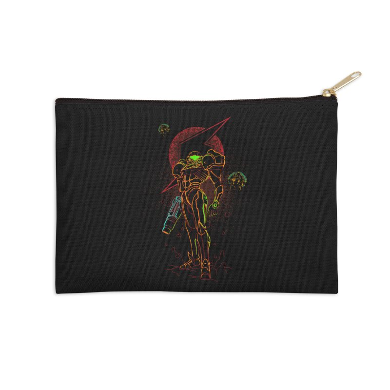 Shadow of bounty hunter Accessories Zip Pouch by Donnie's Artist Shop