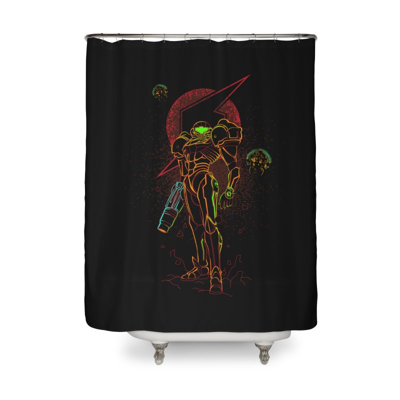 Shadow of bounty hunter Home Shower Curtain by Donnie's Artist Shop