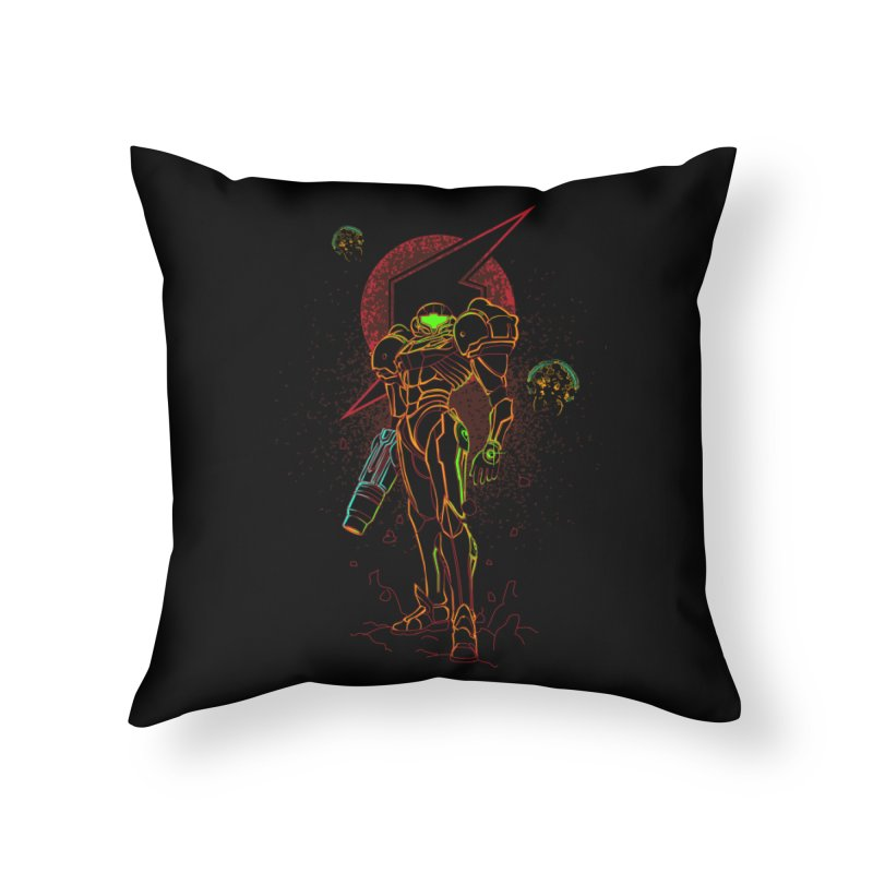 Shadow of bounty hunter Home Throw Pillow by Donnie's Artist Shop