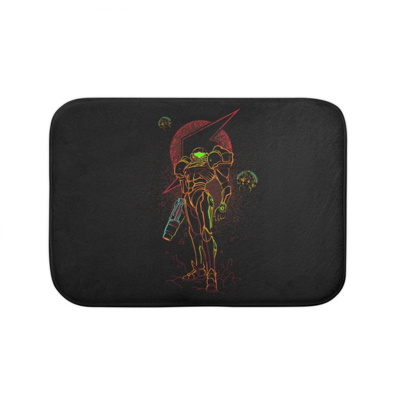 Shadow of bounty hunter Home Bath Mat by Donnie's Artist Shop