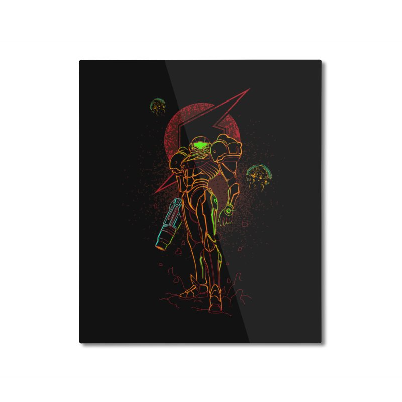 Shadow of bounty hunter Home Mounted Aluminum Print by Donnie's Artist Shop