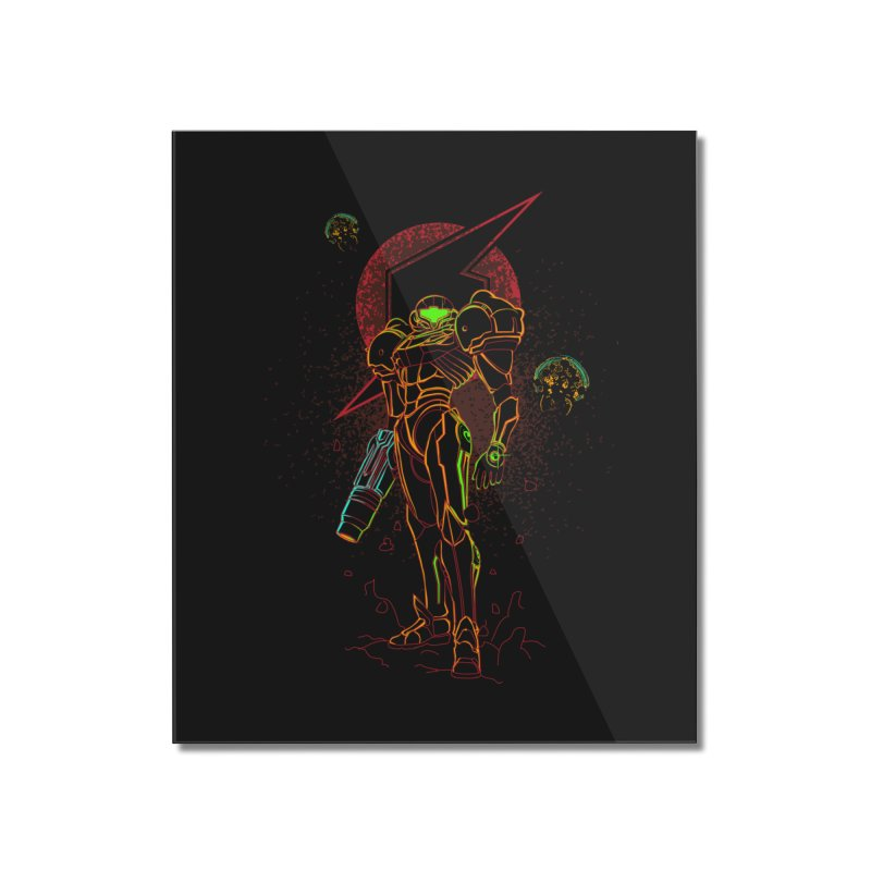 Shadow of bounty hunter Home Mounted Acrylic Print by Donnie's Artist Shop