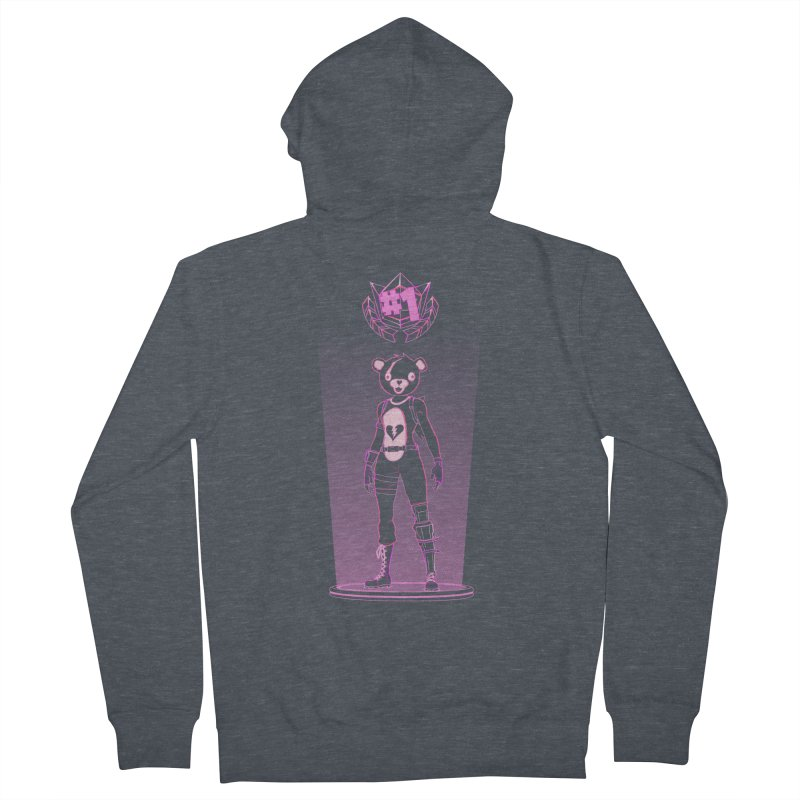 Shadow of the Teddy Bear Women's French Terry Zip-Up Hoody by Donnie's Artist Shop