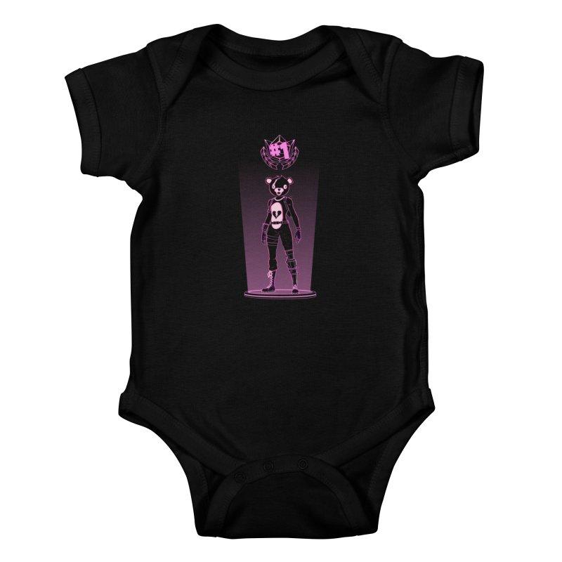 Shadow of the Teddy Bear Kids Baby Bodysuit by Donnie's Artist Shop