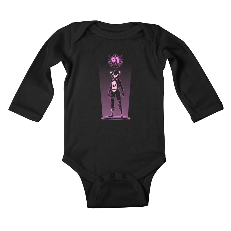 Shadow of the Teddy Bear Kids Baby Longsleeve Bodysuit by Donnie's Artist Shop
