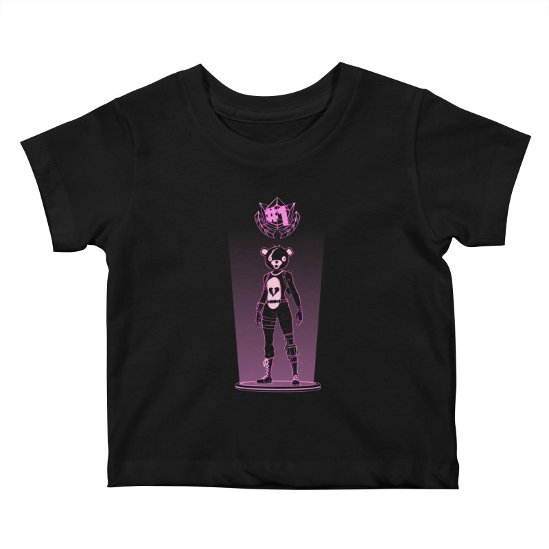 Shadow of the Teddy Bear Kids Baby T-Shirt by Donnie's Artist Shop