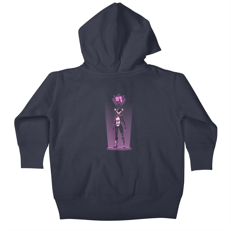 Shadow of the Teddy Bear Kids Baby Zip-Up Hoody by Donnie's Artist Shop