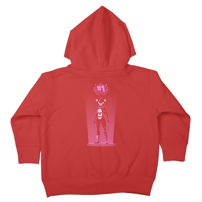 Shadow of the Teddy Bear Kids Toddler Zip-Up Hoody by Donnie's Artist Shop
