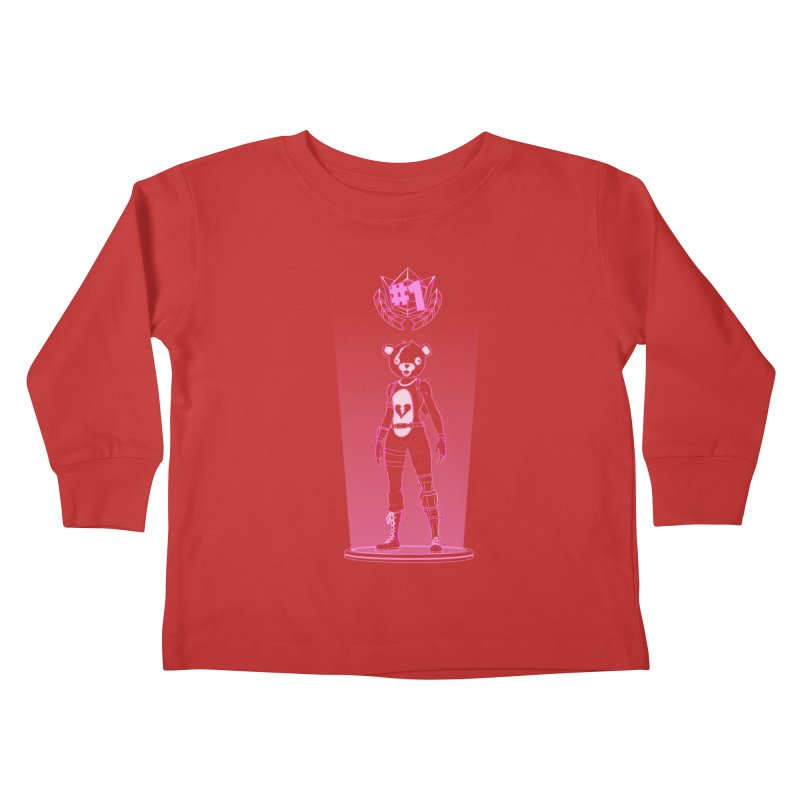 Shadow of the Teddy Bear Kids Toddler Longsleeve T-Shirt by Donnie's Artist Shop