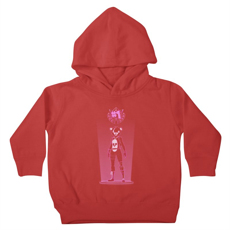 Shadow of the Teddy Bear Kids Toddler Pullover Hoody by Donnie's Artist Shop
