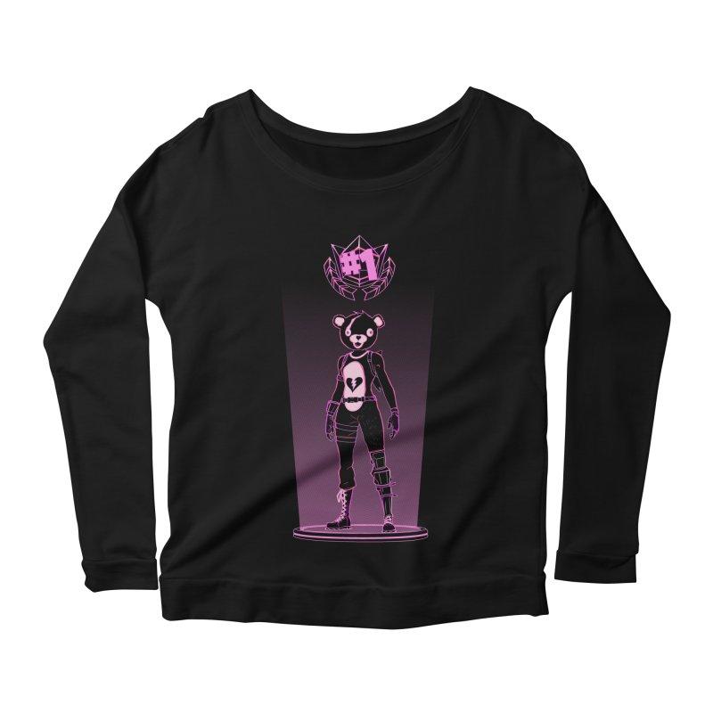 Shadow of the Teddy Bear Women's Scoop Neck Longsleeve T-Shirt by Donnie's Artist Shop