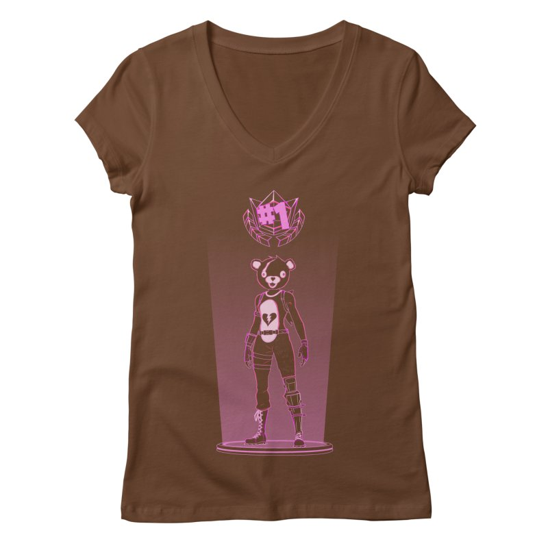 Shadow of the Teddy Bear Women's Regular V-Neck by Donnie's Artist Shop