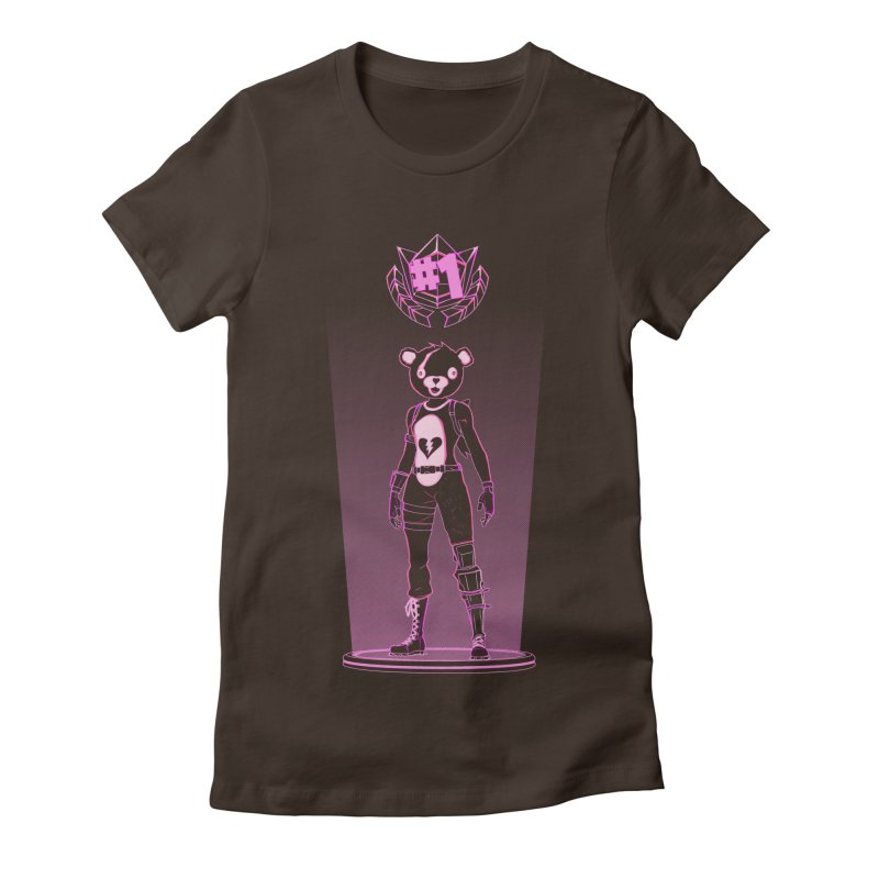 Shadow of the Teddy Bear Women's Fitted T-Shirt by Donnie's Artist Shop
