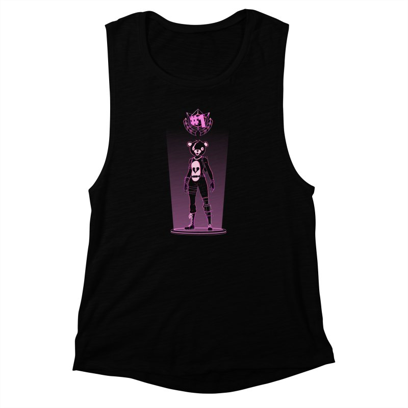 Shadow of the Teddy Bear Women's Muscle Tank by Donnie's Artist Shop
