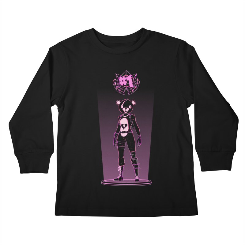 Shadow of the Teddy Bear Kids Longsleeve T-Shirt by Donnie's Artist Shop