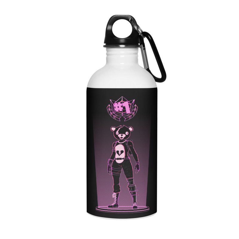 Shadow of the Teddy Bear Accessories Water Bottle by Donnie's Artist Shop