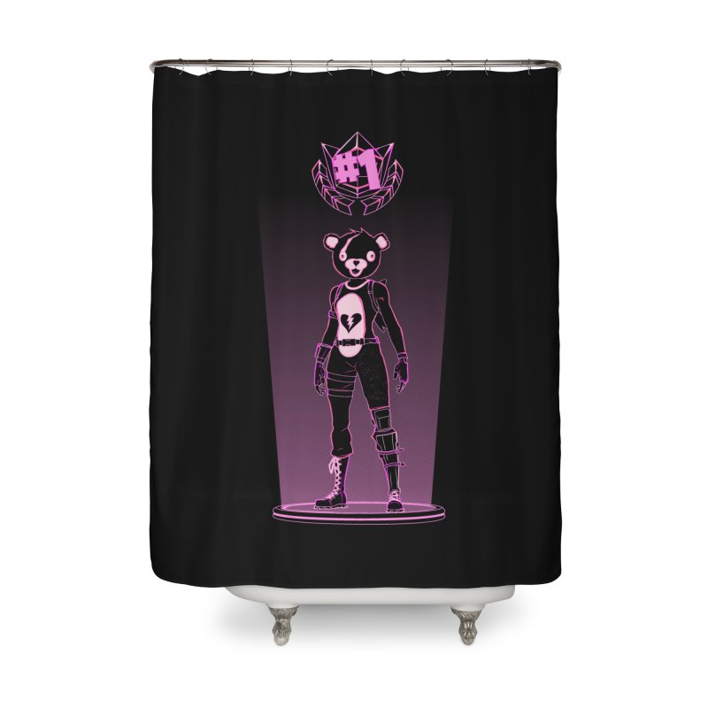 Shadow of the Teddy Bear Home Shower Curtain by Donnie's Artist Shop