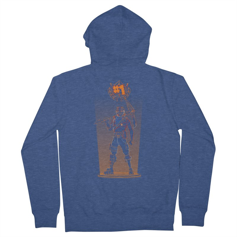 Shadow of the Rust Lord Men's French Terry Zip-Up Hoody by Donnie's Artist Shop