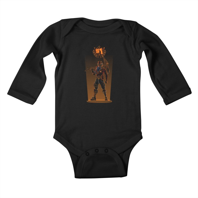 Shadow of the Rust Lord Kids Baby Longsleeve Bodysuit by Donnie's Artist Shop