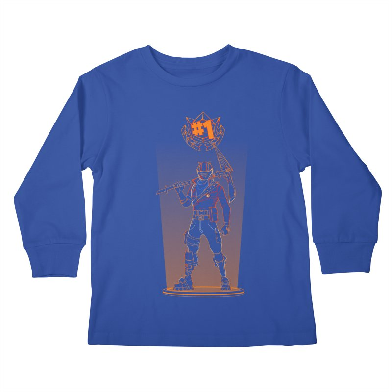 Shadow of the Rust Lord Kids Longsleeve T-Shirt by Donnie's Artist Shop