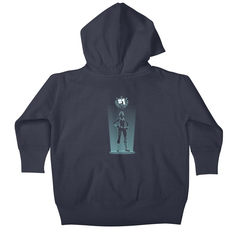 Shadow of the Recon Specialist Kids Baby Zip-Up Hoody by Donnie's Artist Shop