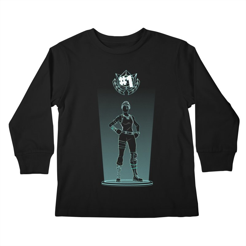 Shadow of the Recon Specialist Kids Longsleeve T-Shirt by Donnie's Artist Shop