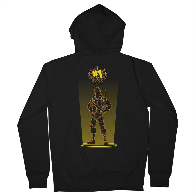Shadow of the Raptor Women's French Terry Zip-Up Hoody by Donnie's Artist Shop