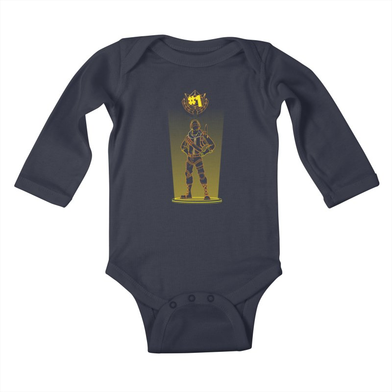 Shadow of the Raptor Kids Baby Longsleeve Bodysuit by Donnie's Artist Shop