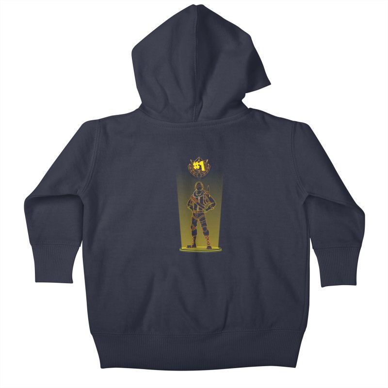 Shadow of the Raptor Kids Baby Zip-Up Hoody by Donnie's Artist Shop