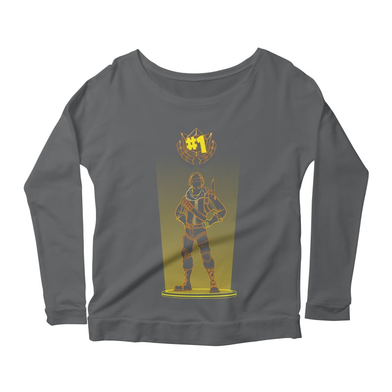 Shadow of the Raptor Women's Scoop Neck Longsleeve T-Shirt by Donnie's Artist Shop