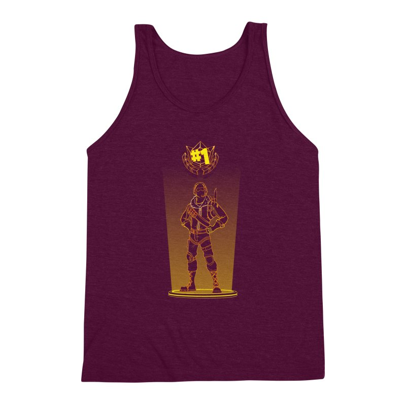 Shadow of the Raptor Men's Triblend Tank by Donnie's Artist Shop