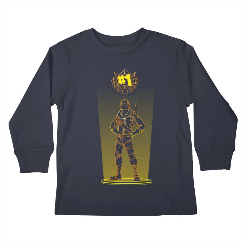 Shadow of the Raptor Kids Longsleeve T-Shirt by Donnie's Artist Shop