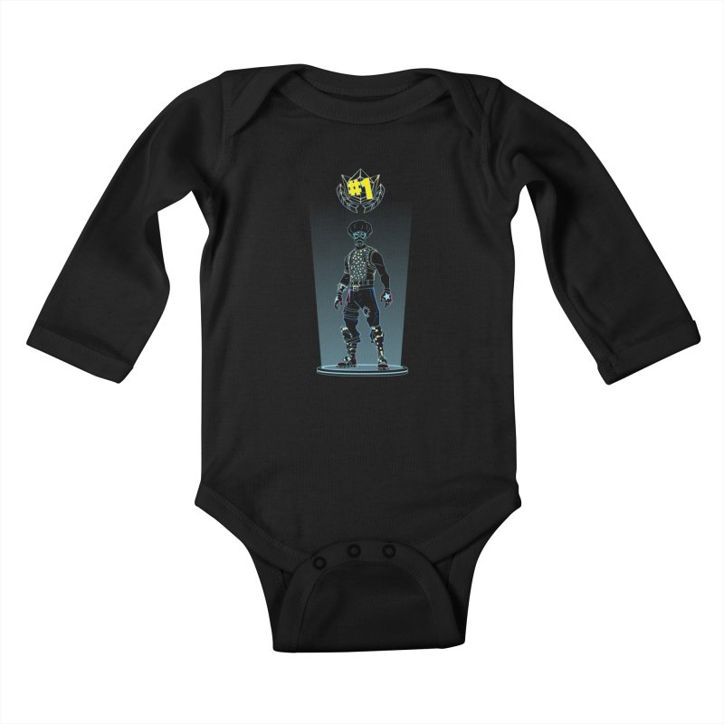Shadow of the Funk Kids Baby Longsleeve Bodysuit by Donnie's Artist Shop