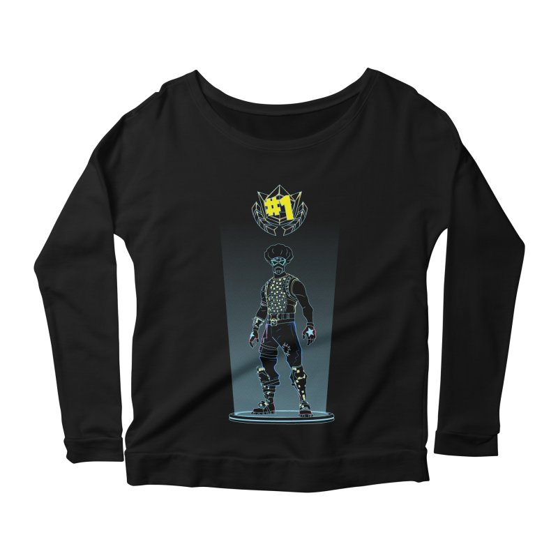 Shadow of the Funk Women's Scoop Neck Longsleeve T-Shirt by Donnie's Artist Shop