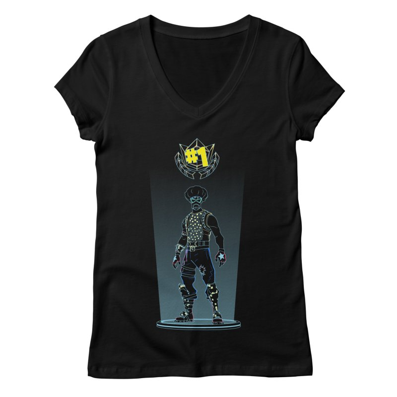 Shadow of the Funk Women's Regular V-Neck by Donnie's Artist Shop
