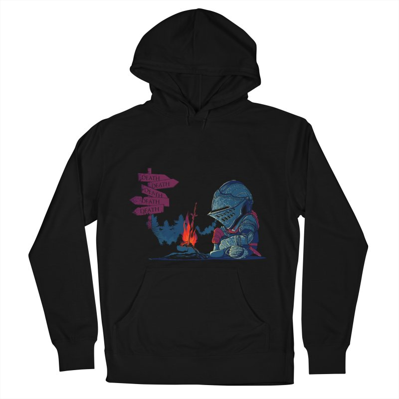 Dark Deathtiny Men's French Terry Pullover Hoody by Donnie's Artist Shop