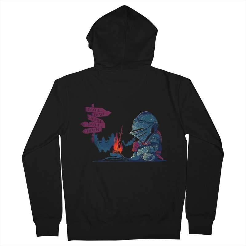 Dark Deathtiny Men's French Terry Zip-Up Hoody by Donnie's Artist Shop