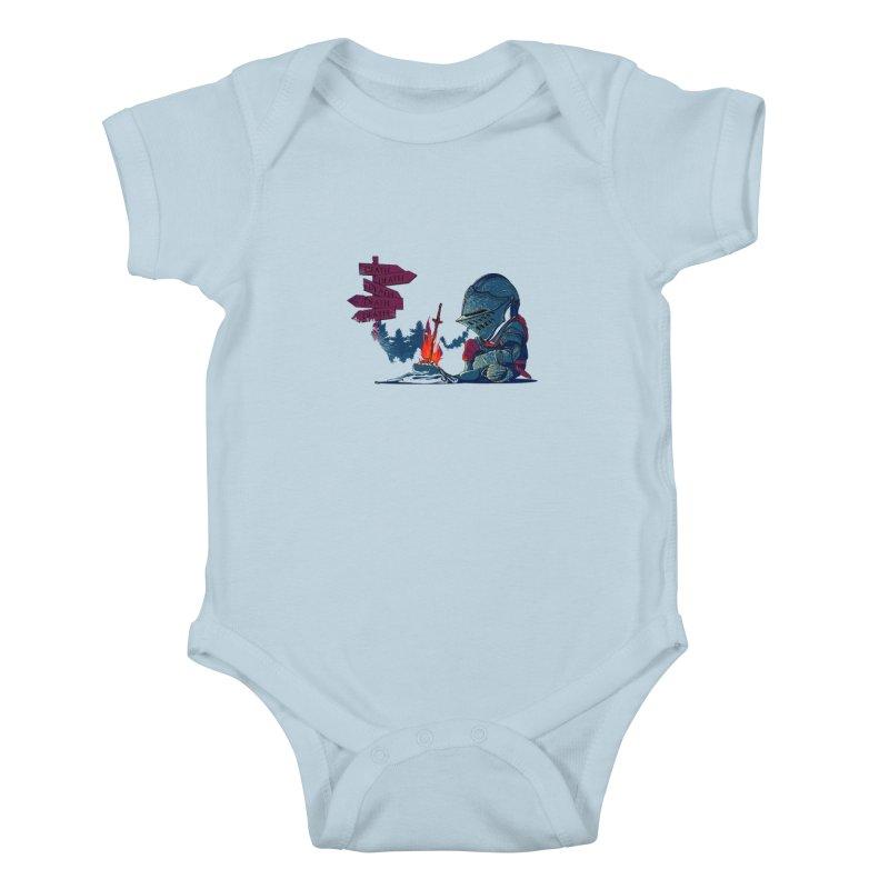 Dark Deathtiny Kids Baby Bodysuit by Donnie's Artist Shop