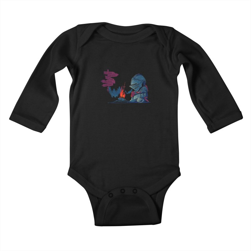 Dark Deathtiny Kids Baby Longsleeve Bodysuit by Donnie's Artist Shop