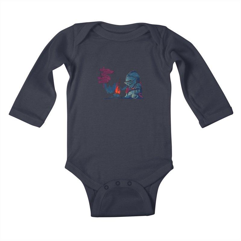 Dark Deathtiny Kids Baby Longsleeve Bodysuit by Donnie's Artist Shop