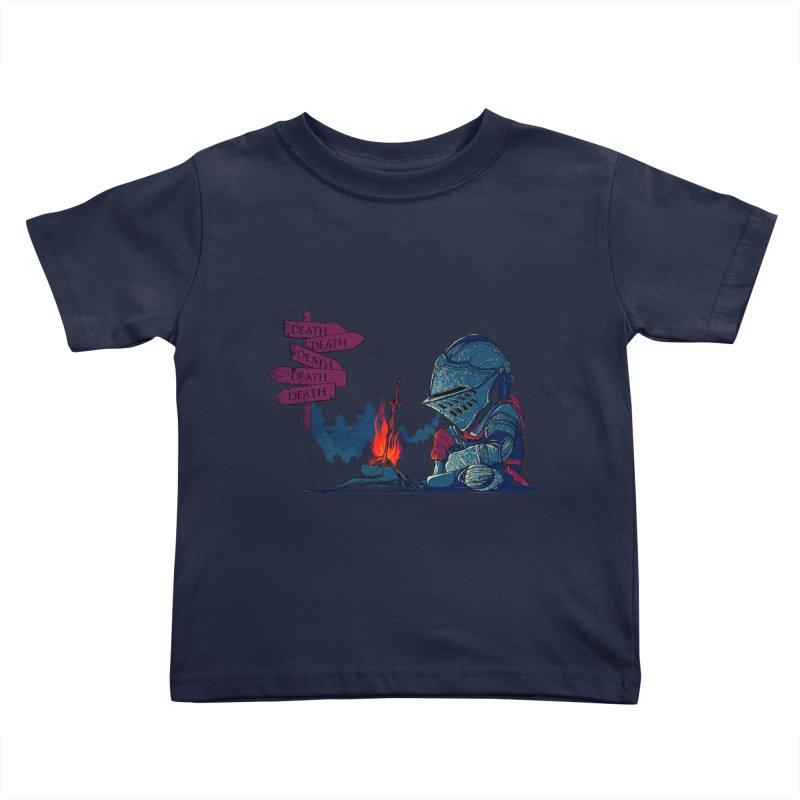Dark Deathtiny Kids Toddler T-Shirt by Donnie's Artist Shop