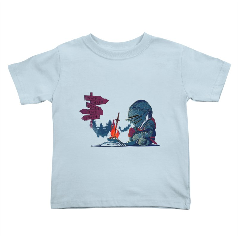 Dark Deathtiny Kids Toddler T-Shirt by Donnie's Artist Shop