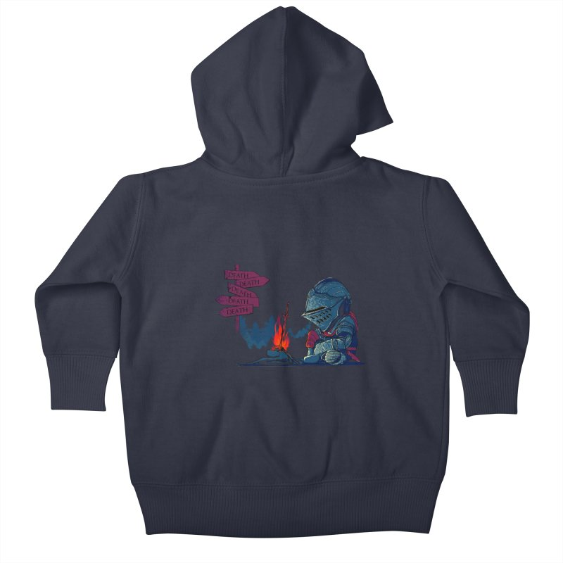 Dark Deathtiny Kids Baby Zip-Up Hoody by Donnie's Artist Shop