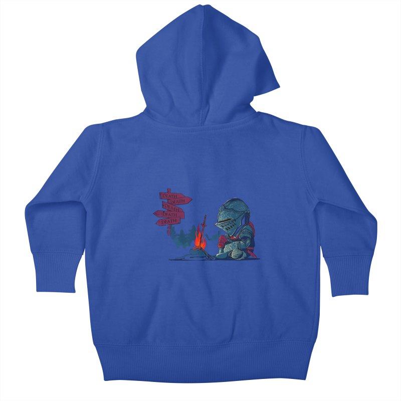 Dark Deathtiny Kids Baby Zip-Up Hoody by Donnie's Artist Shop