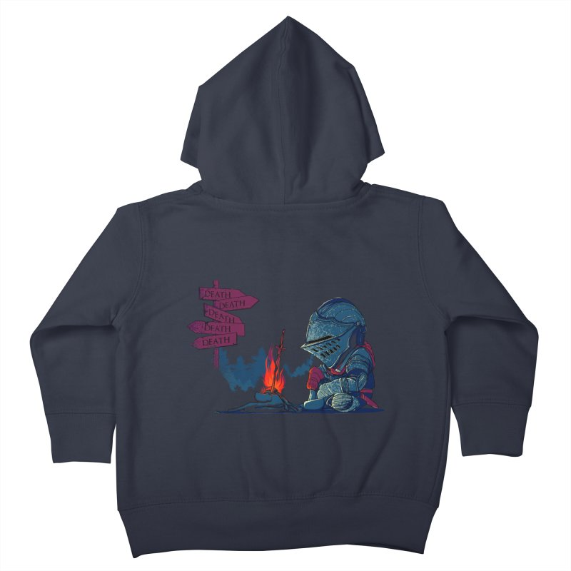 Dark Deathtiny Kids Toddler Zip-Up Hoody by Donnie's Artist Shop