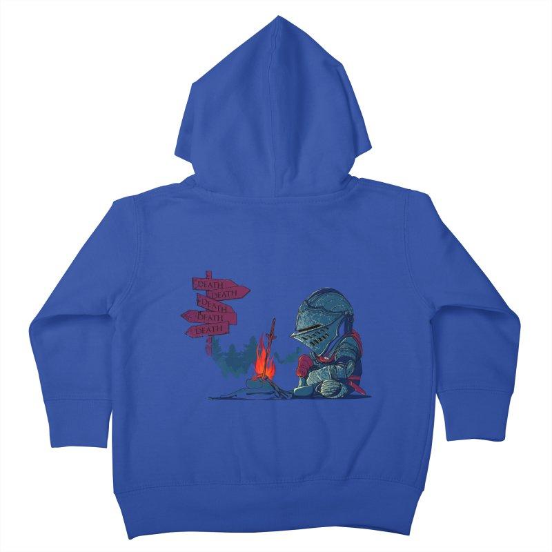 Dark Deathtiny Kids Toddler Zip-Up Hoody by Donnie's Artist Shop