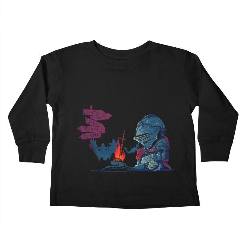 Dark Deathtiny Kids Toddler Longsleeve T-Shirt by Donnie's Artist Shop