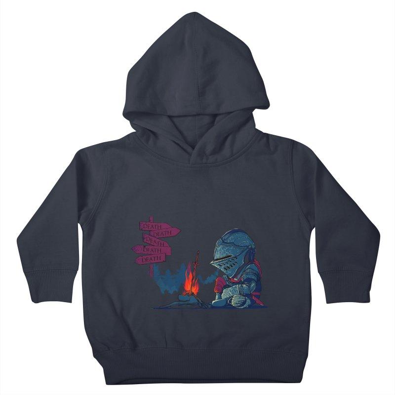 Dark Deathtiny Kids Toddler Pullover Hoody by Donnie's Artist Shop