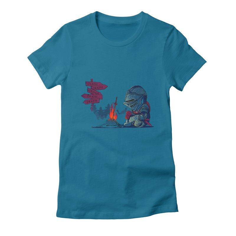 Dark Deathtiny Women's Fitted T-Shirt by Donnie's Artist Shop