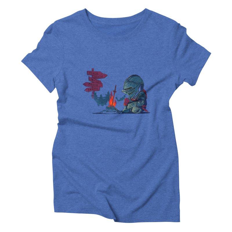 Dark Deathtiny Women's Triblend T-shirt by Donnie's Artist Shop